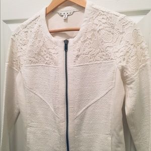 CAbi Cotton Zip Up Jacket - Size Small